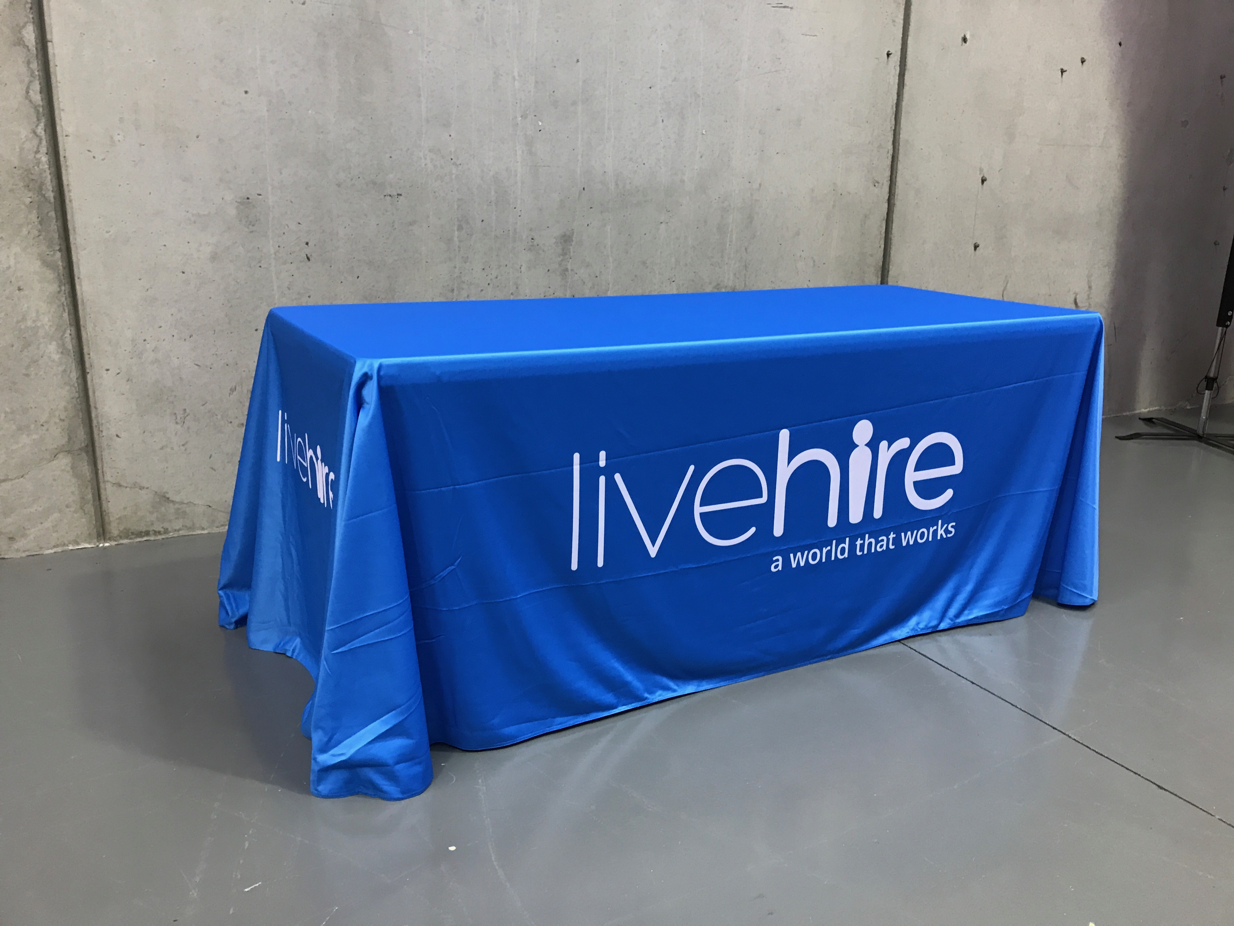 Printed Tablecloths Branded Table Cloths Custom Fitted